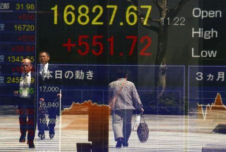 Asian shares climb, tracking gains in US stocks, oil prices