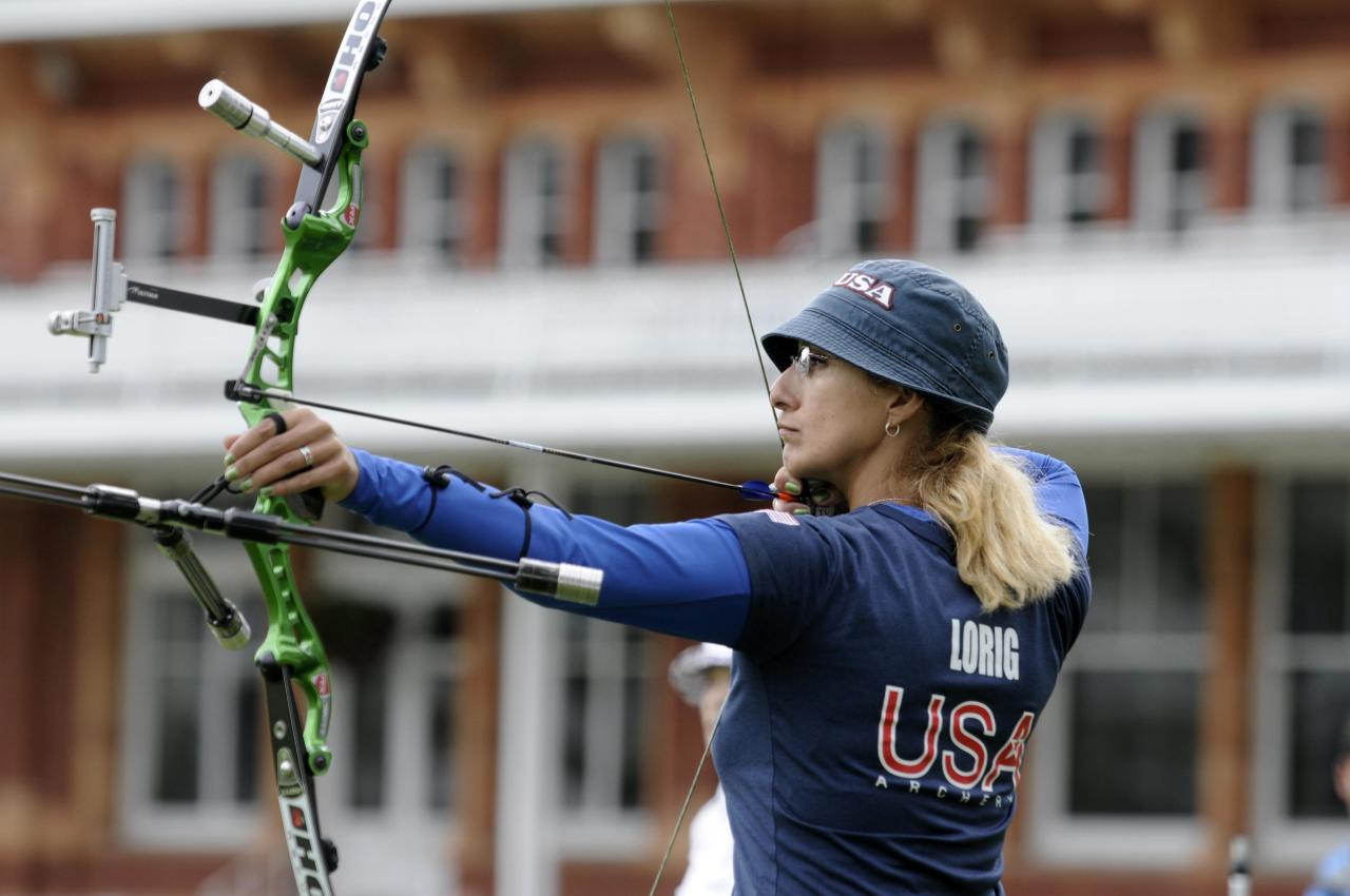 Oct 5, 2011; London, UNITED KINGDOM; Khatuna Lorig (USA) during the ladies team event in preparation for the 2012 London Olympics at Lord's Cricket Ground.