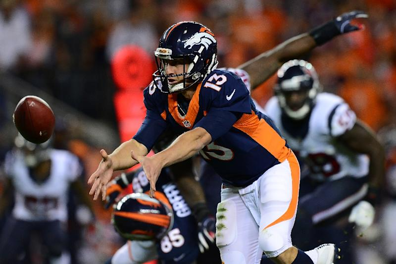 Texans QB Brock Osweiler struggles in return to Denver