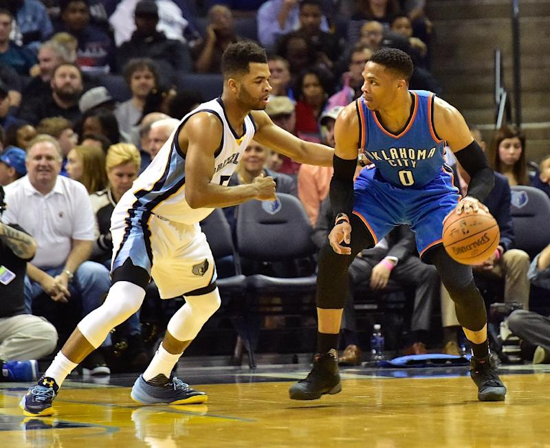 Russell Westbrook equals triple-double record as Thunder trample Bucks