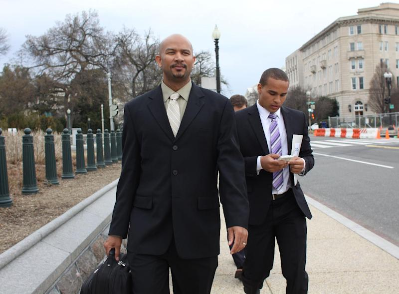 College athletes take labor cause to Capitol Hill