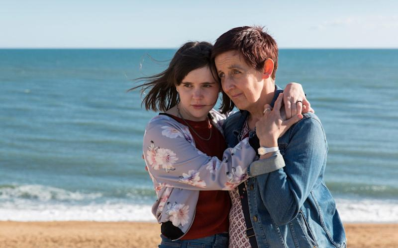 Hannah Millward and Julie Hesmondhalgh in Broadchurch - Kudos/Imaginary Friends/Sister Pictures/ITV