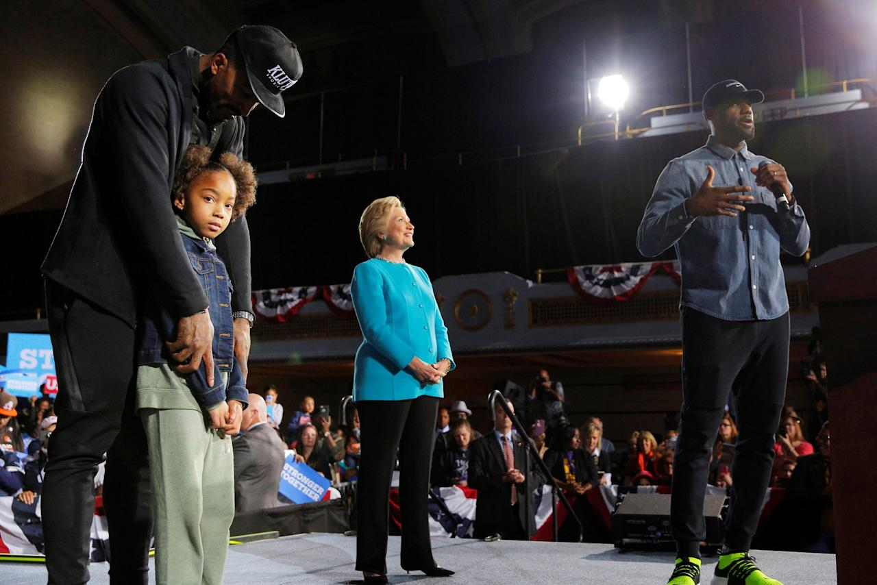 Image result for JR Smith and lebron at a hillary clinton rally