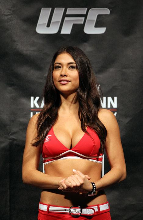 SYDNEY, AUSTRALIA - MARCH 02:  UFC Octagon Arianny Celeste attends the UFC on FX official weigh in at Allphones Arena on March 2, 2012 in Sydney, Australia.