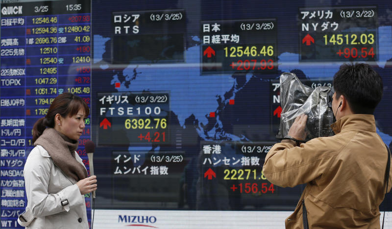 Asian stocks slip over effects of Cyprus bailout