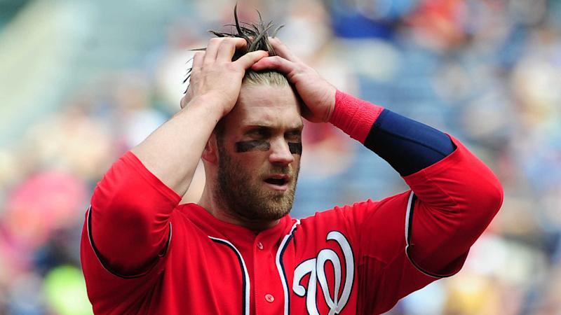 Nats GM Rizzo dodges question on long-term talks for Harper