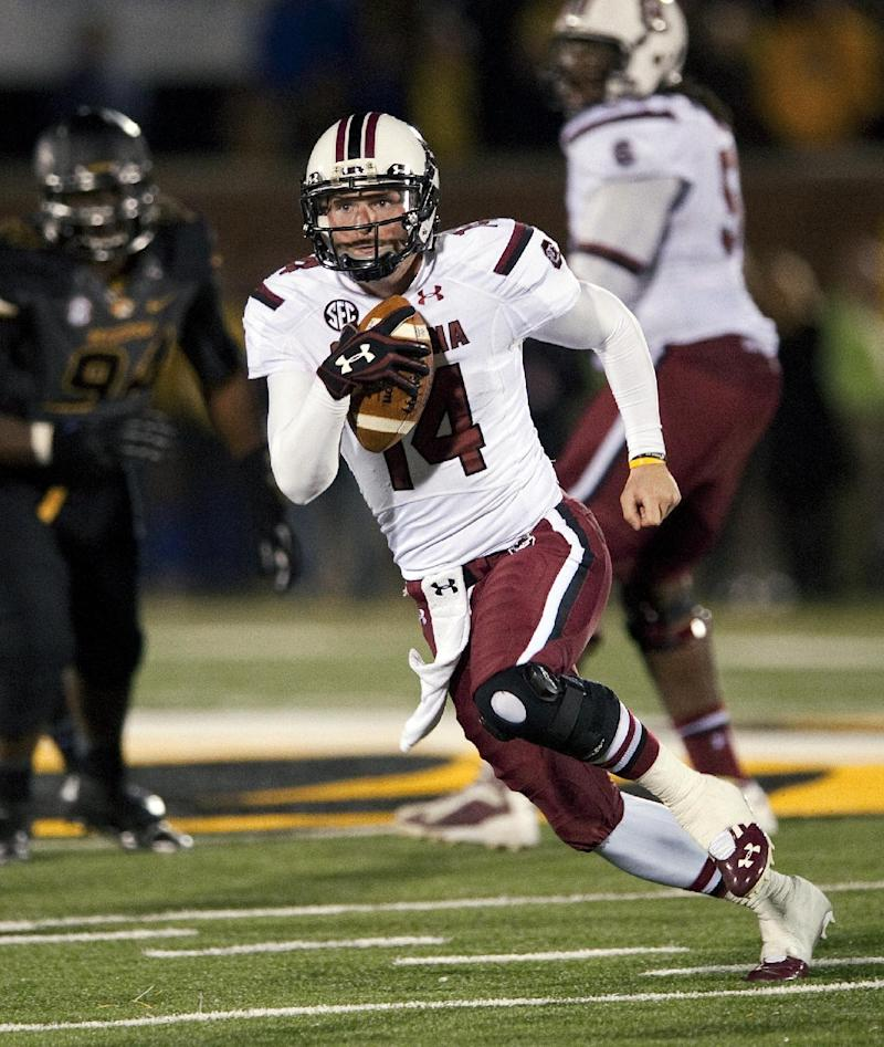 QB Shaw back from virus for No. 14 Gamecocks