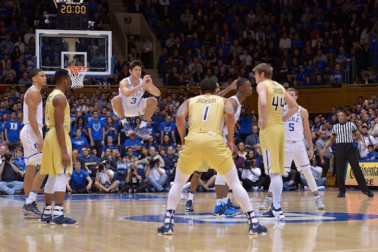 Grayson Allen made his return Wednesday night against Georgia Tech (Getty Images).