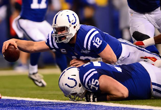 Skills would have been a more apt last name for the Colts QB. (USAT)