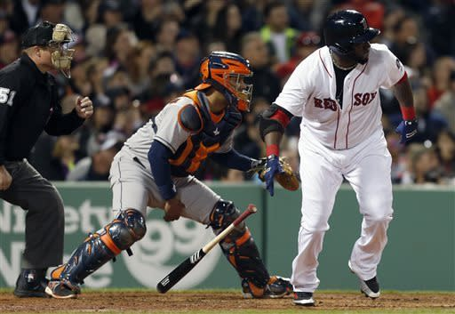 Ortiz's 3 RBIs carry Red Sox past the Astros 8-4