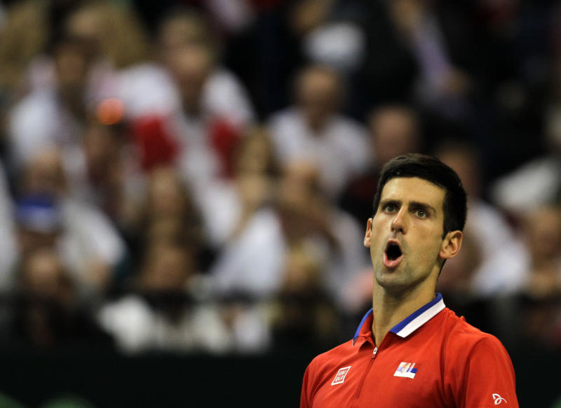 Serbia, Czech Republic tied 1-1 in Davis Cup