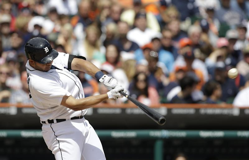 Cabrera tossed, but Tigers rout Phillies 12-4