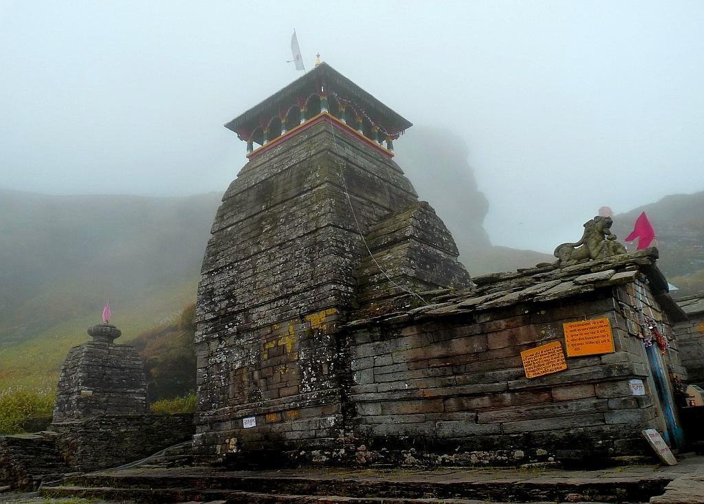 Tungnath, a stately and serene temple dedicated to Lord Shiva, is the second of the five Kedars, the others being Kedarnath, Madhyamaheshwar, Kalpeshwar and Rudranath. The legend behind the temples is rooted in the Mahabharata. It is said that the Pandavas, after the Great War at Kurukshetra, wished to atone for the sins of fratricide and the killing of Brahmins. They were directed to seek the blessings of Lord Shiva. The Lord, however, was in no mood to pardon them as he was angry at the magnitude of their sins. Taking the form of a bull, the Lord hid from the Pandavas at Guptkashi in the Garhwal Himalaya.