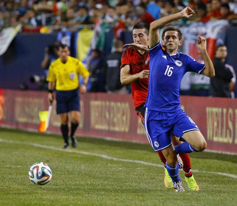 Bosnia edges Mexico 1-0 in warm-up match