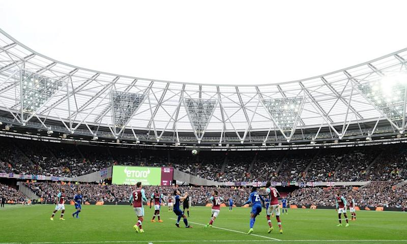 The London Stadium, home of West Ham, has a capacity of 60,000 and was built for the 2012 Olympic Games.