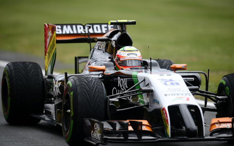 Force India's Nico Hulkenberg drives during the qualifying session for the British Grand Prix at the Silverstone circuit on July 5, 2014