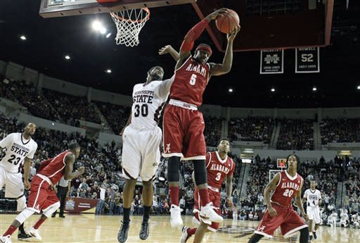 Moultrie leads No. 20 Mississippi State over 'Bama
