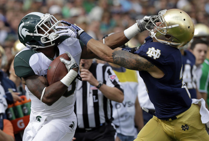 Penalties costly in Spartans' 17-13 loss to ND