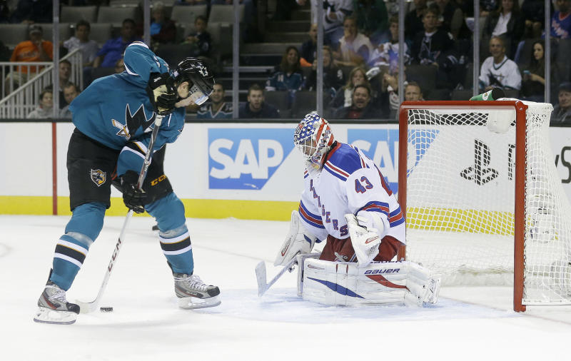 Biron, Asham clear waivers, sent to AHL by Rangers