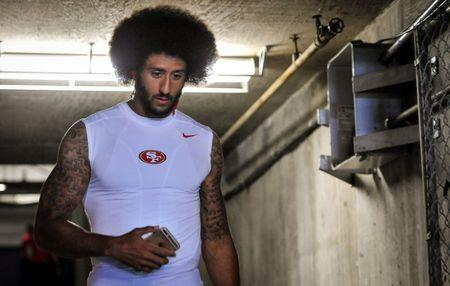 Sep 1, 2016; San Diego, CA, USA; San Francisco 49ers quarterback Colin Kaepernick (7) walks through the tunnel out onto the field before the game against the San Diego Chargers before the game at Qualcomm Stadium. Mandatory Credit: Orlando Ramirez-USA TODAY Sports  / Reuters