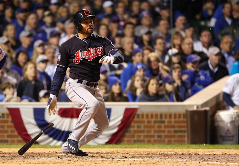 Coco Crisp's hit lifted the Indians to a 1-0 victory and a 2-1 lead in the World Series. (Getty)