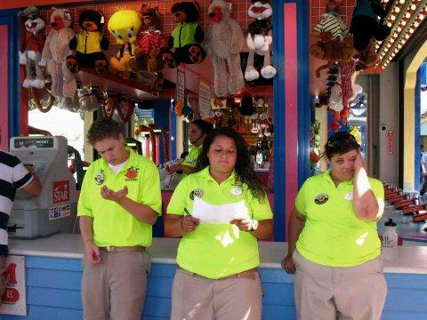 Theme park workers