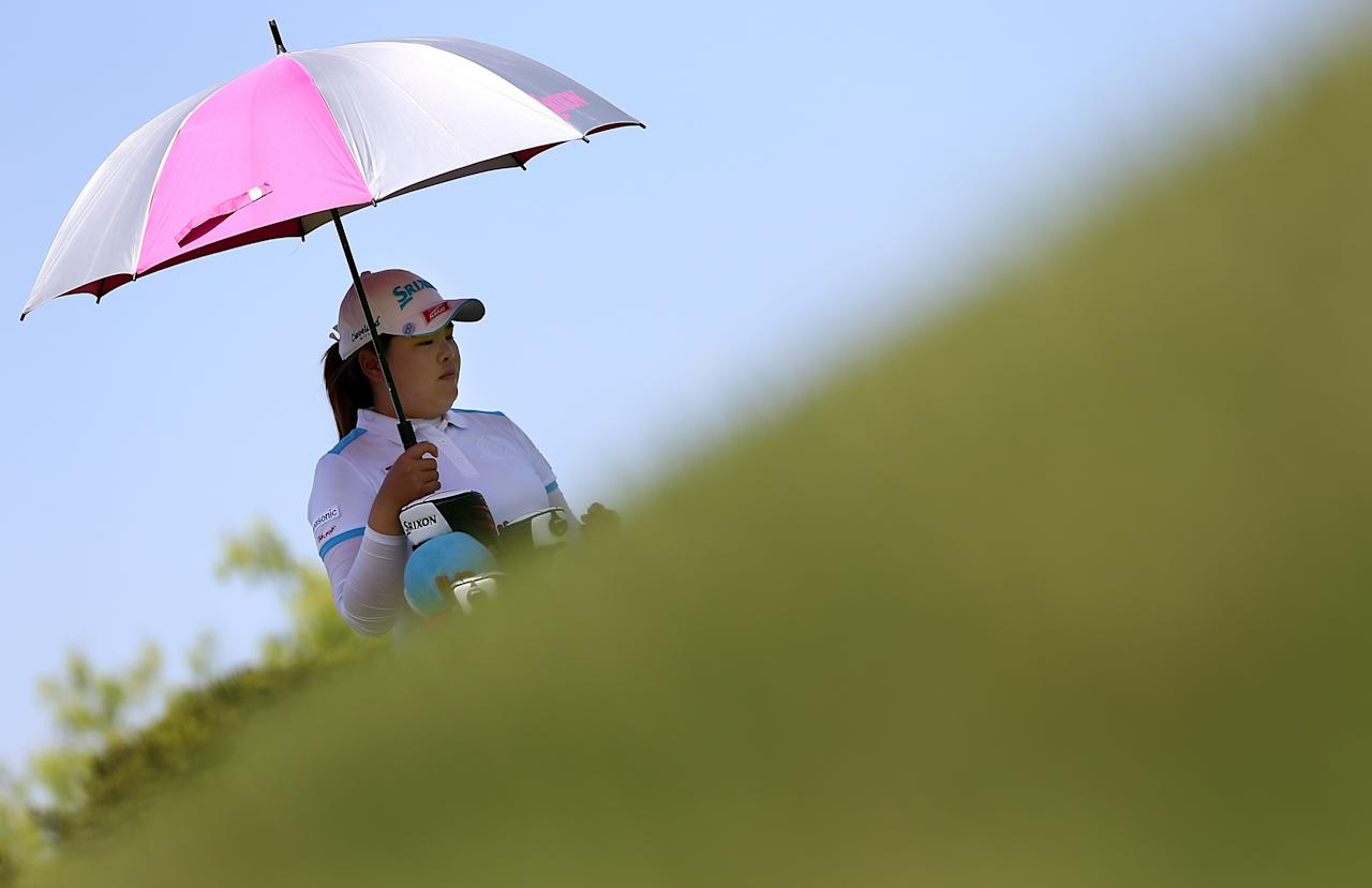 IRVING, TX - APRIL 28:  Inbee Park of South Korea waits to hit during the final round of the 2013 North Texas LPGA Shootout at the Las Colinas Counrty Club on April 28, 2013 in Irving, Texas.  (Photo by Tom Pennington/Getty Images)