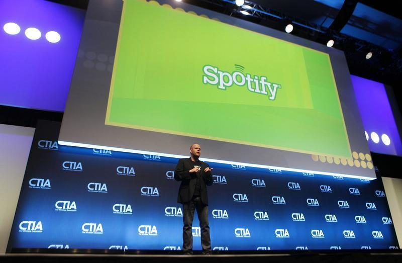 Daniel Ek, CEO & Co-Founder of Spotify, addresses attendees during the International CTIA WIRELESS Conference & Exposition in New Orleans