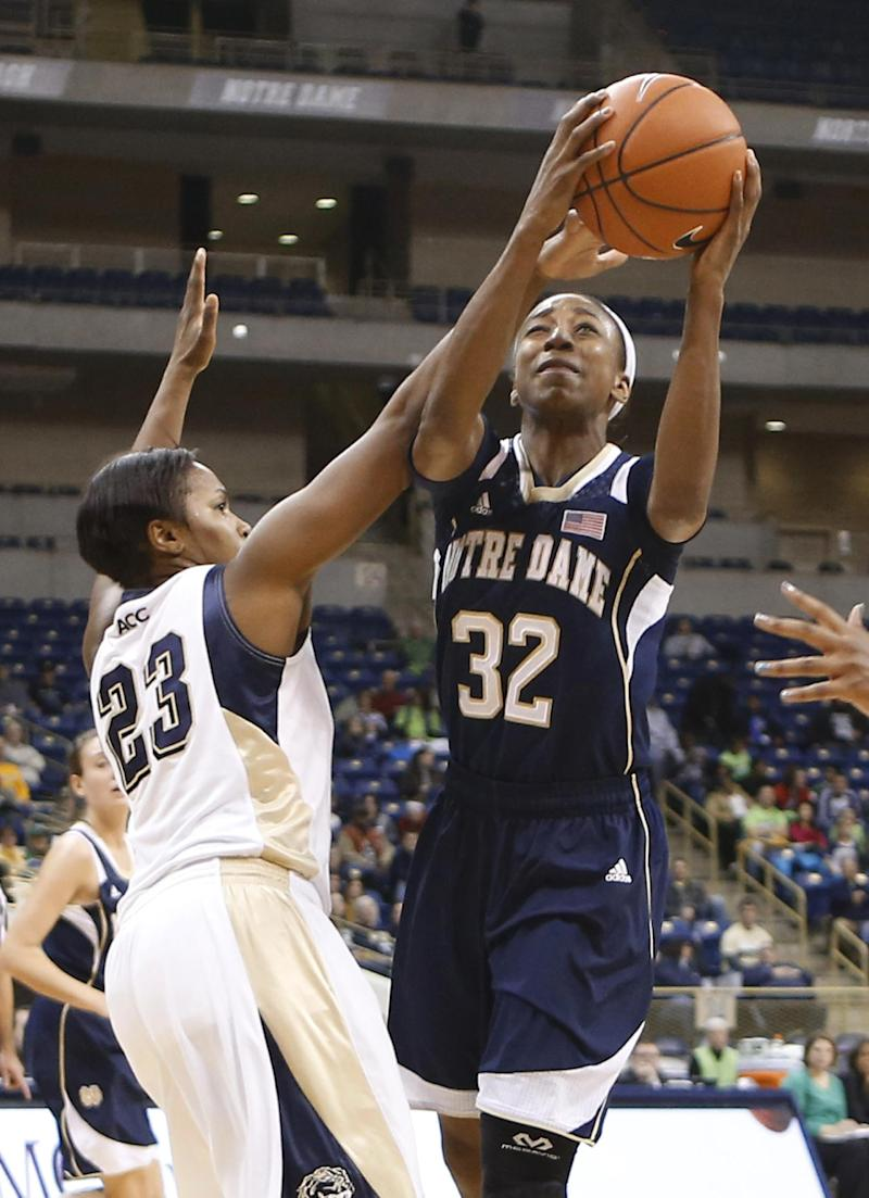 No. 2 Notre Dame women rout Pittsburgh 109-66