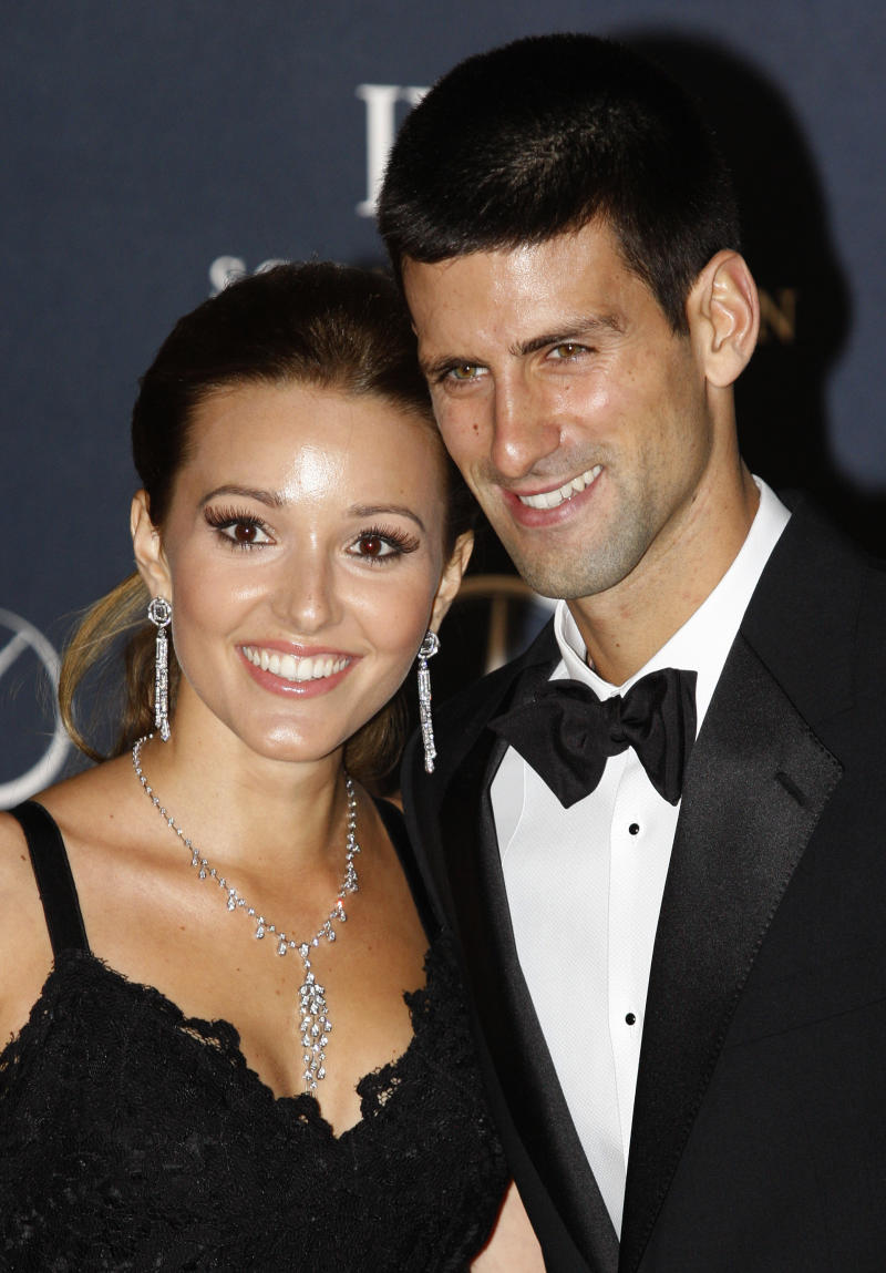 Djokovic says he's engaged to long-time girlfriend