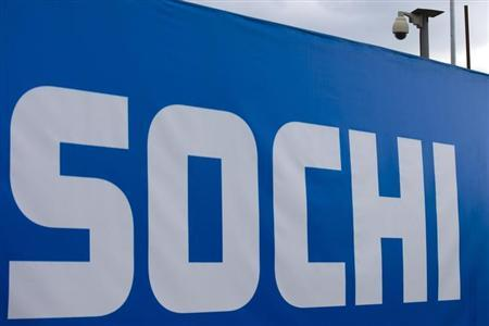 A CCTV surveillance camera is mounted near a venue of the Sochi 2014 Winter Games in Sochi