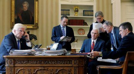 Phone with putin in the oval office at the white house in washington