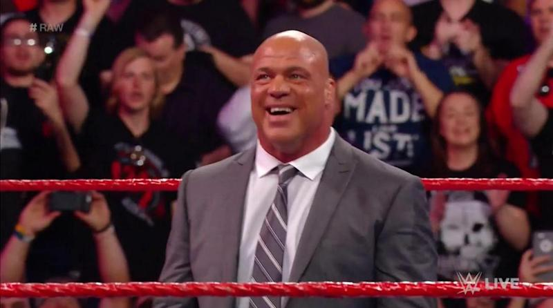 Goldberg gives unscripted goodbye to WWE Universe after RAW