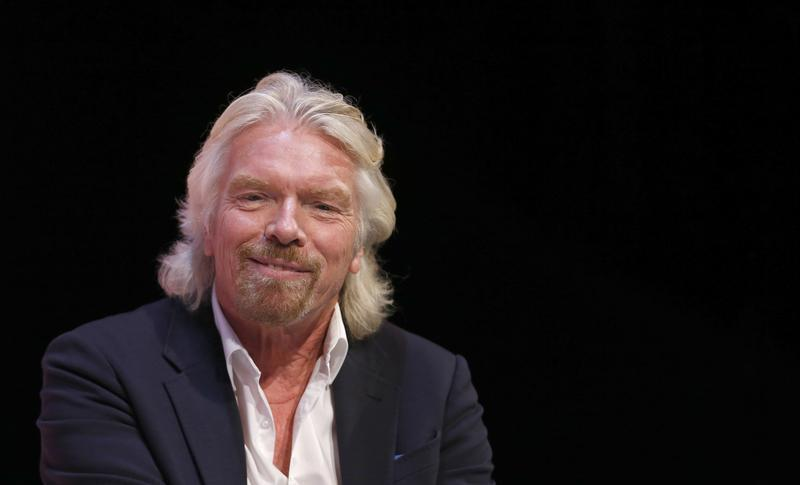 Virgin Group founder Branson speaks at the Institute of Directors annual convention in London