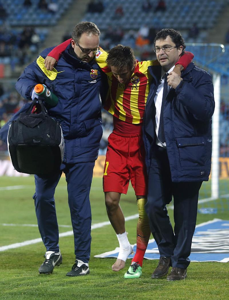 Barcelona's Neymar out 3-4 weeks with ankle sprain