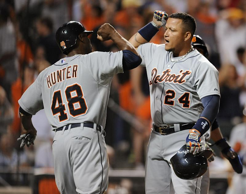 Davis homers, Tigers beat Orioles 7-5 for sweep