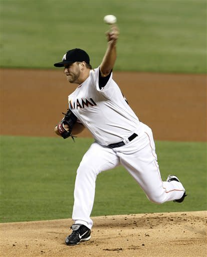 Buehrle pitches Marlins to 2-1 win over Nationals