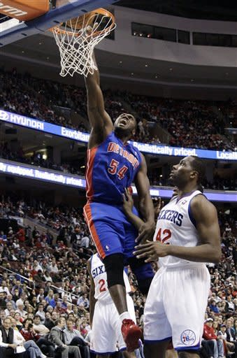Hawes leads 76ers past Pistons, 96-73