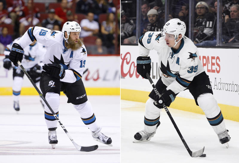 Sharks' Thornton improving, but still uncertain for Game 2