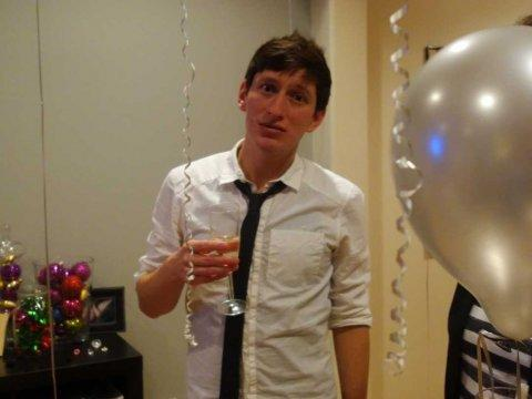 exasperated young man party