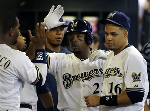 Weeks homers twice as Brewers beats Cubs 9-3