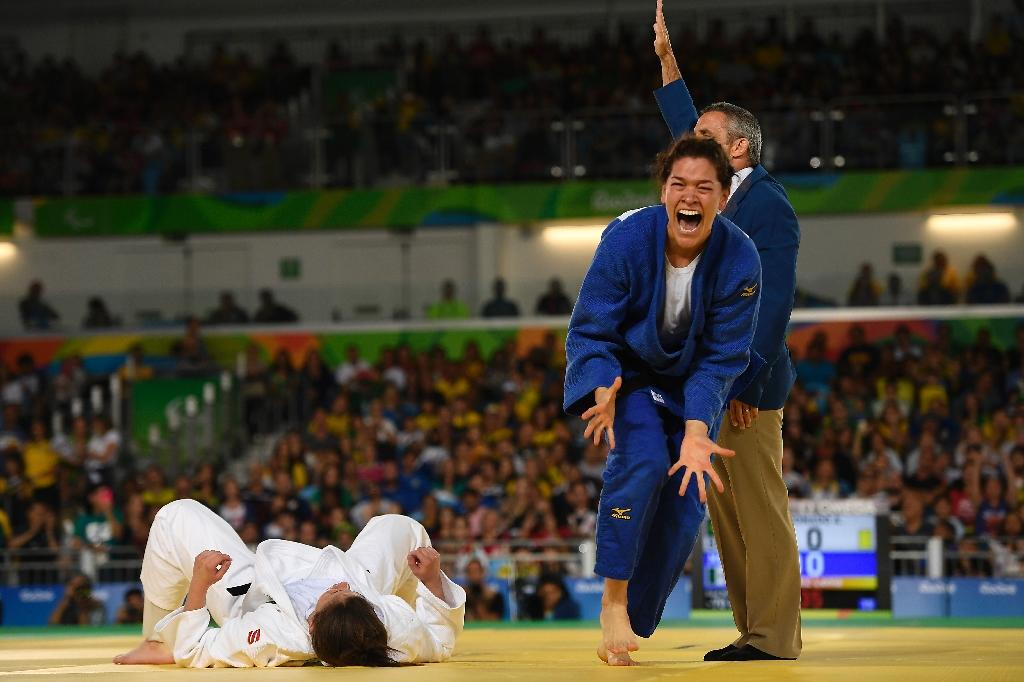Judo in the Paralympics has surprisingly few differences to the sport in the Olympics with judokas fighting as skillfully and fiercely (AFP Photo/Christophe Simon)