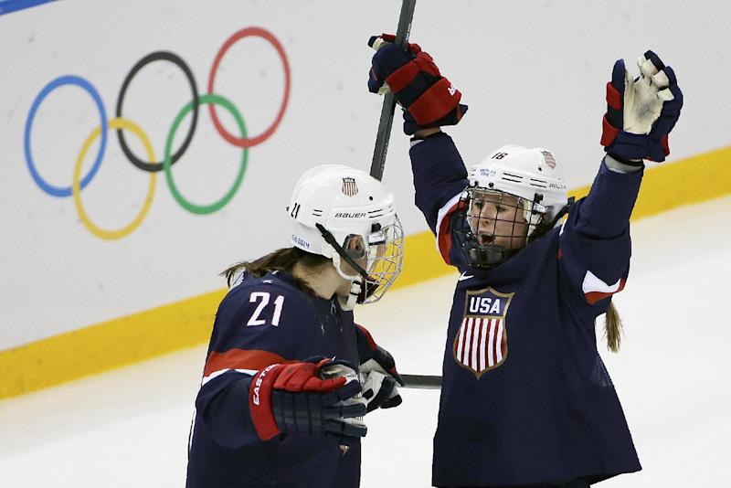 Americans hold off Finland 3-1 in women's hockey