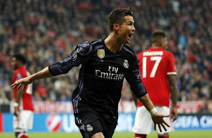 Ronaldo scores 100 Champions League goals after a brace against Bayern
