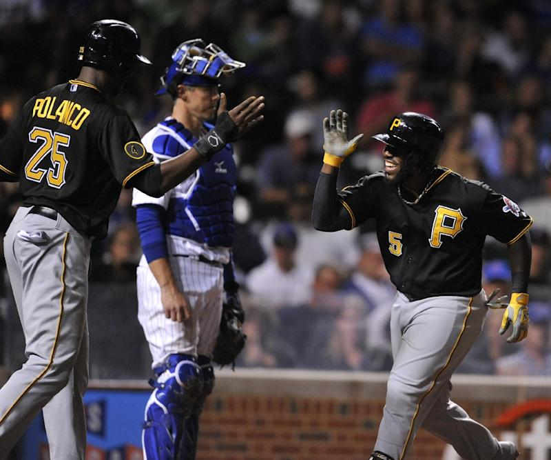 Harrison powers Pirates past Cubs 5-3