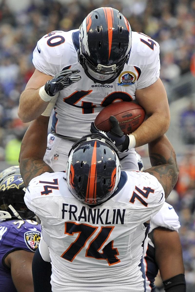 Broncos' Franklin adjusting to life at left guard
