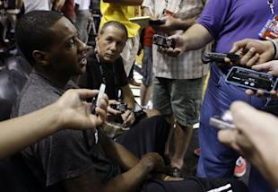 Mario Chalmers is hearing it from all sides. (AP)