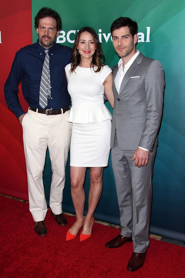 """Silas Weir Mitchell, Bree Turner and David Guintoli (""""Grimm"""") attend the 2013 NBC Universal Summer Press Day held at The Langham Huntington Hotel and Spa on April 22, 2013 in Pasadena, California."""