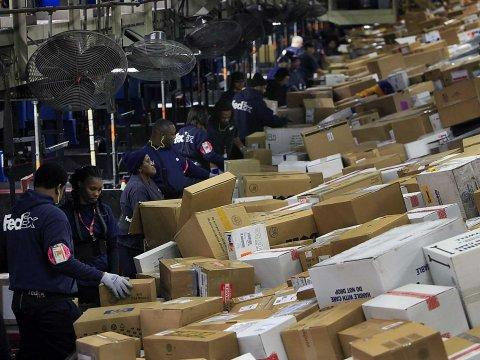 fedex sorting facility service workers jobs