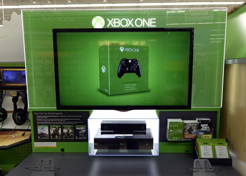 XBox One is seen on display at the Wal-Mart Supercenter in the Porter Ranch section of Los Angeles